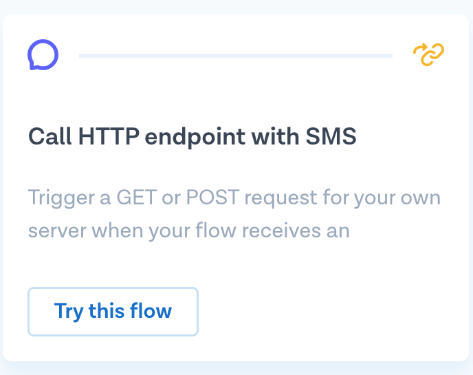 Call HTTP with SMS, Step 1